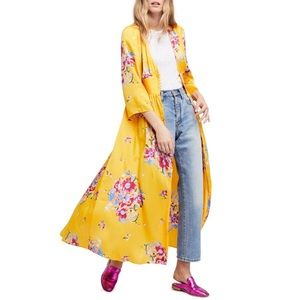 NWT Free People Floral Duster